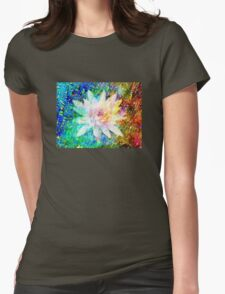 Water Lily with iridescent water drops T-Shirt