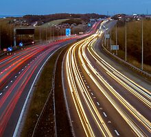 Motorway Light Trails by Glen Allen