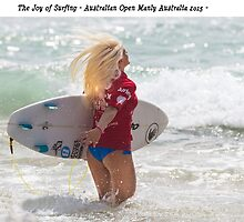 The joy of surfing Tatiana by Gary Blackman
