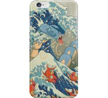 THE GREAT WAVE OFF KANAGAWA POKEMON iPhone Case/Skin