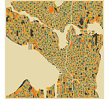 SEATTLE MAP Photographic Print