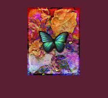 Colorful iridescent butterfly Womens Fitted T-Shirt