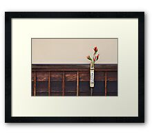 Zen Composition with Chillies Framed Print