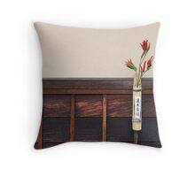 Zen Composition with Chillies Throw Pillow