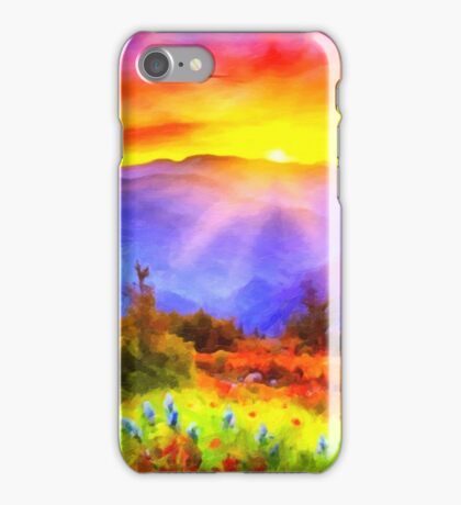 Colorful abstract landscape iPhone Case/Skin
