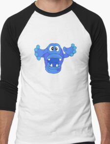 Monster - blue Men's Baseball ¾ T-Shirt