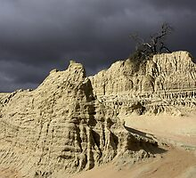 Storm clouds over Lake Mungo by Hans Kawitzki