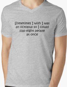 I Wish I Was An Octopus Mens V-Neck T-Shirt