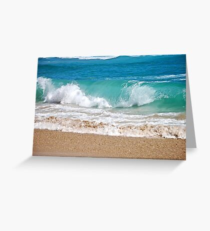 Wave breaking on the beach Greeting Card