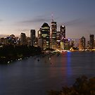 Brisbane city taken at night from Kangaroo Point  by flash62au