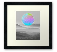 Worlds That Never Were (Geodesic Moon) Framed Print