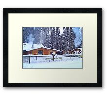 Our Cabin In The Woods...Winter Framed Print