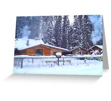Our Cabin In The Woods...Winter Greeting Card