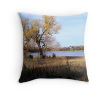 Snuggling weather Throw Pillow