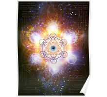 """Aad Guray Nameh""- Merkaba-  Protective energy of the Universe Poster"