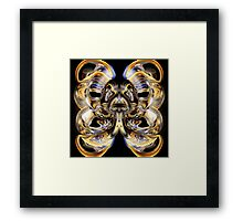 Reflections on yoga inner space outer space Framed Print