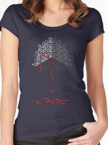 Cube Tree 0.01 Women's Fitted Scoop T-Shirt