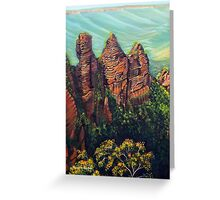 Timeless Blue Mountains Greeting Card