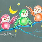 We Three Owls by AngelArtiste