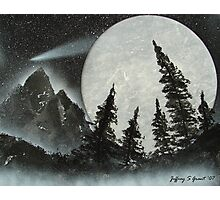 Silvery Moon Photographic Print