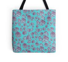 The peaceful blue flower Tote Bag