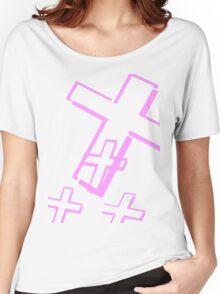 Pink Cross Women's Relaxed Fit T-Shirt
