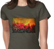 Red poppy field Womens Fitted T-Shirt