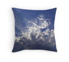 Splashing Clouds Throw Pillow
