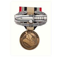 OIF Combat Action Badge Art Print