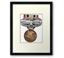 OIF Combat Action Badge Framed Print