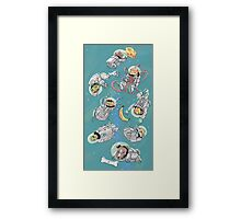 Space Critters Framed Print