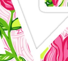 ΔΖ- Delta Zeta Lily print Sticker