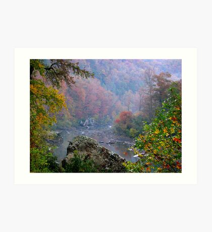 Rainy Days On The Mulberry River Art Print