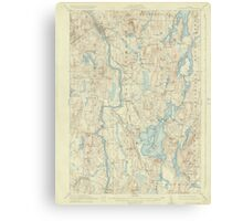 Maine USGS Historical Map Livermore 306646 1912 62500 Canvas Print