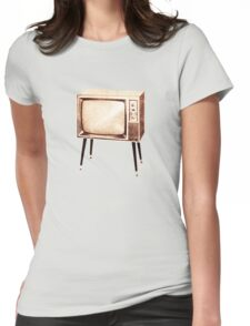 Stylish Retro Television (from the Vintage Magazine series) Womens Fitted T-Shirt