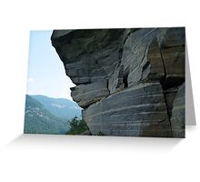 Wild Cat Trap Rock Formation, NC Greeting Card