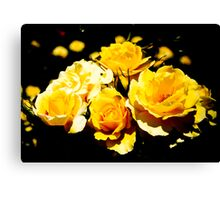 Yellow Roses in the Garden Canvas Print