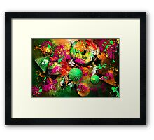 Neon Ink - Abstract Art Framed Print