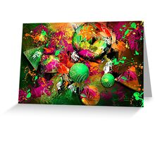 Neon Ink - Abstract Art Greeting Card