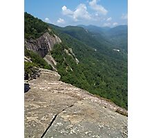 View from Chimney Rock State Park, NC Photographic Print