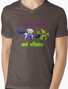 lil' heroes and villains: getic and surge... Mens V-Neck T-Shirt