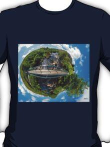 Footbridge over Glen River, Carrick, SW Donegal T-Shirt