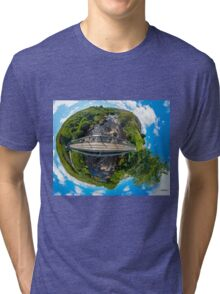 Footbridge over Glen River, Carrick, SW Donegal Tri-blend T-Shirt