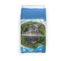 Footbridge over Glen River, Carrick, SW Donegal Duvet Cover