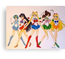 Sailor Scouts Canvas Print