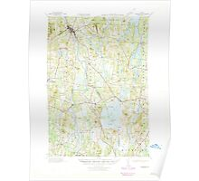 Maine USGS Historical Map Livermore 460571 1941 62500 Poster