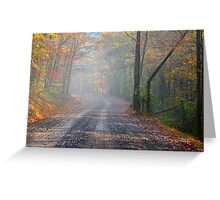 Foggy Mountain Rain Greeting Card