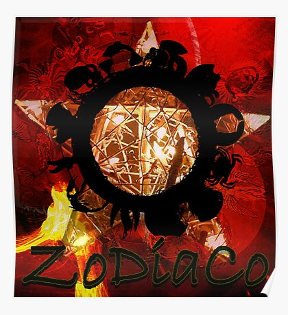 Zodiaco Collage Poster