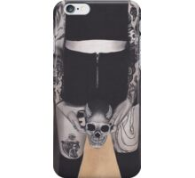 Realism Charcoal Drawing of Demon Hunter with Tattoos iPhone Case/Skin