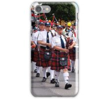 Pipe Band marching in Drouin Ficifolia Parade iPhone Case/Skin